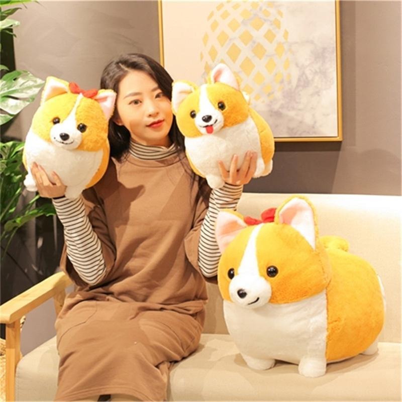 Kawaii Baby Spielzeug Peluche Corgis Hund Gefüllte Tiere Puppe Kissen Tierkreuzung Plüsch Kreative Kissen Decoracion Hogar Geschenk 201214