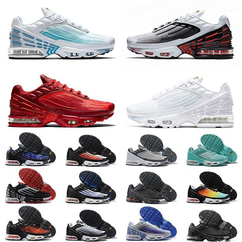 Hommes Femmes 97 Plus 3 Sneakers Chaussures Classiques Top 97 Og Show Shoge Shoes Noir Blanc Trainer Coussin Air respirant Homme Sports Chaussures de sport