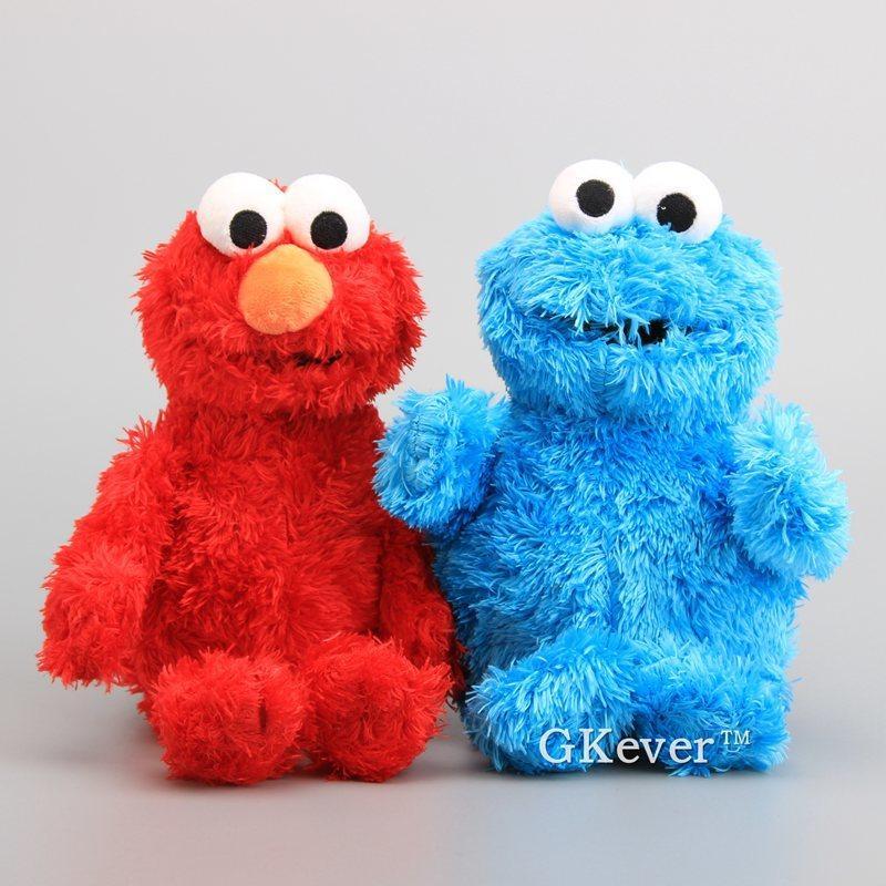 Yüksek Kaliteli Susam Sokak Elmo Çerez Canavar Yumuşak Peluş Oyuncak Bebekler 30-33 cm Çocuk Eğitici Oyuncaklar 1011