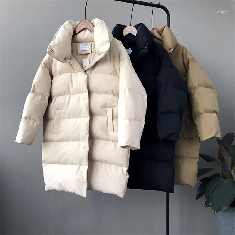 Mulheres para baixo parkas jaqueta mulheres inverno outerwear casacos feminino longo casual morno baiacu parka1