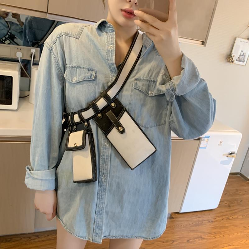 Bolsas de cintura de Crossbody Bolsa de teléfono 2021 Moda de cuero para Paquete Bolsa Cinturón HBP Mujer Muchacha Fanny Packs Damas Bolsa Casual Hombro Cintura Ecnlx