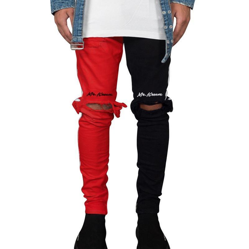 2020 di stirata dei pantaloni denim slim fit Solid Jeans Uomo Casual Denim Jeans Maschile Via Hip Hop Vintage pantaloni Skinny Pant