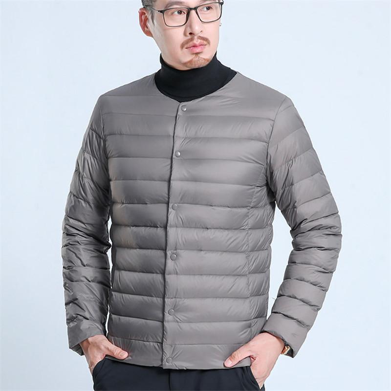 Yhavaton Autunno e Lightweight Interner Liner Warm Warm Winter Dad Down Piumino uomo Cappotto da uomo