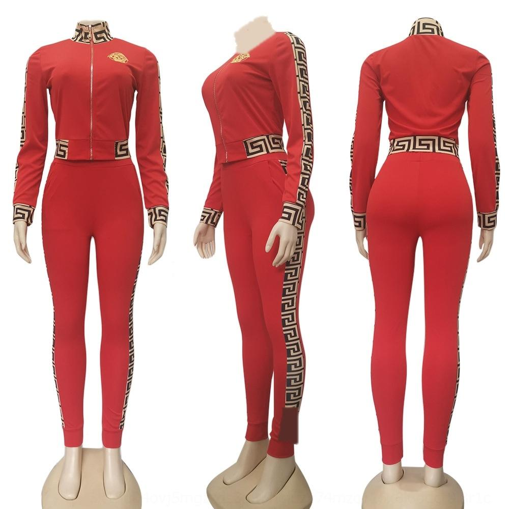 MYM6 2020 Nuova stampa Donne Tracksuits Due pezzi Pantaloni Pantaloni a manica corta Crop skinny breve Casual Top Sports Suit set Abbigliamento da esterno