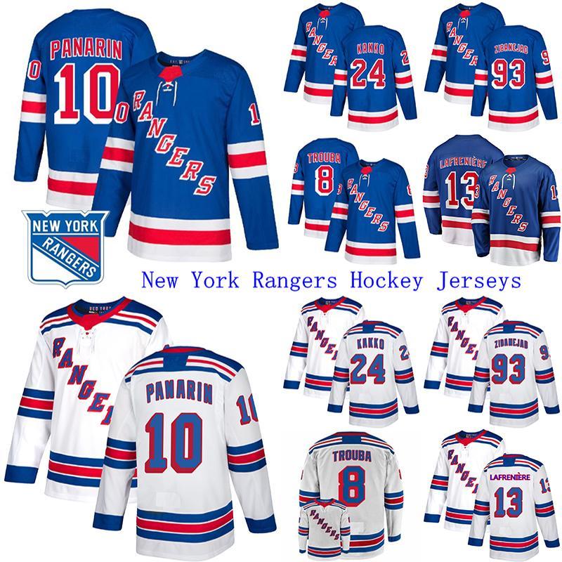 2019-20 Нью-Йорк Рейнджерс Джерси 10 Artemi Panarin 24 Kaapo Kakko 23 Adam Fox 13 Alexis Lafreniere Hockey Jerseys
