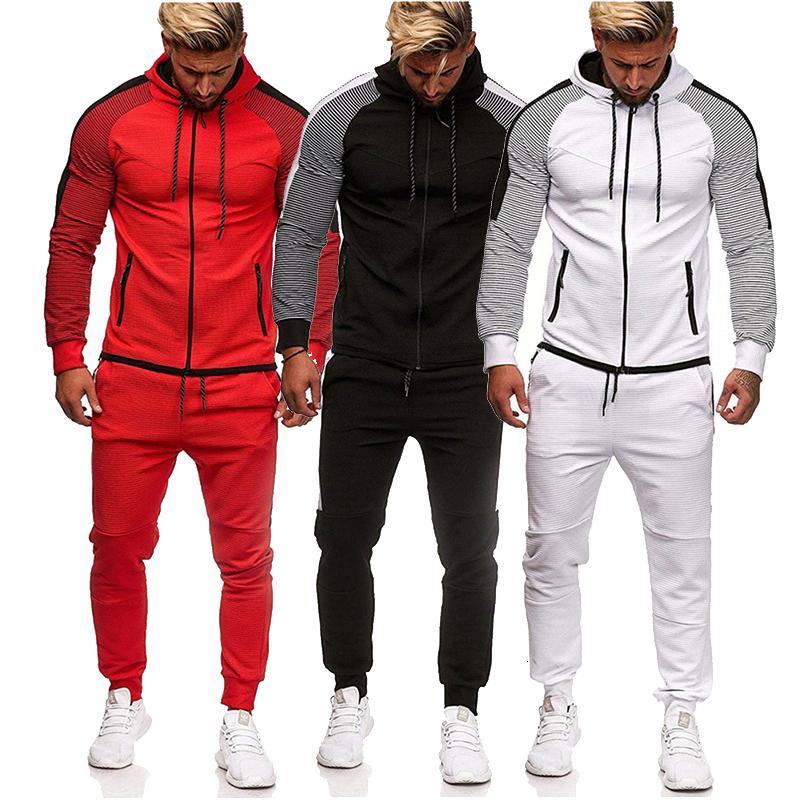 2021 Новый осень зимний пот костюм набор мужских спортзал спортсмен сумасшедший повседневная уличная одежда мужской кухол с длинным рукавом туда куртка