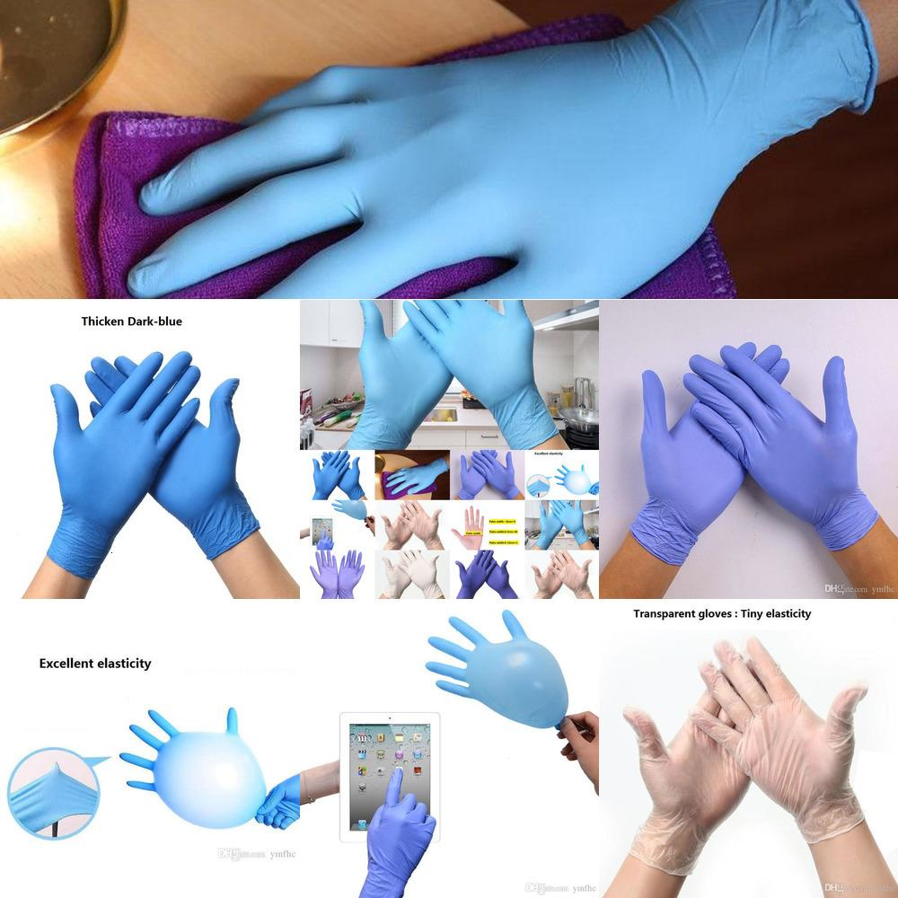 Stock Nitrile Latex jetables FREE SIZE anti-dérapant Gants acido-Protection Restauration 7W6I1outletWX3F