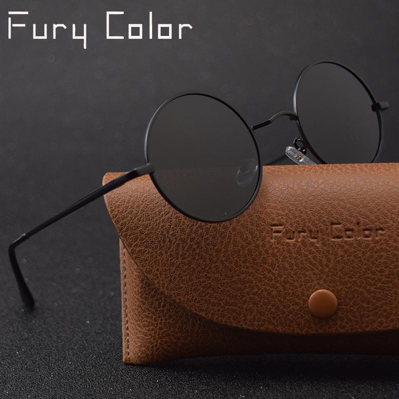 Klassische Retro Steampunk Gothic Runde Polarisierte Sonnenbrille Männer Frauen Kleine Vintage John Lennon Sonnenbrille Gafas de Sol