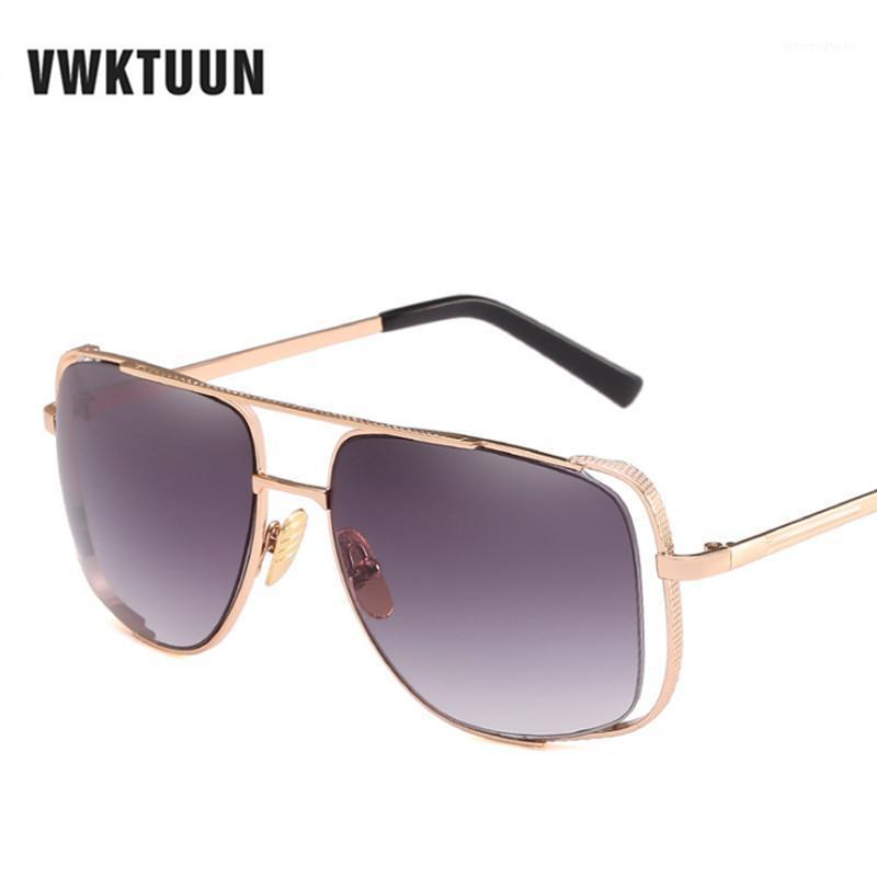 Sunglasses VWKTUUN Vintage Men Women Hollow Frame Points Gradient Lens Sun Glasses For Square Shades Mirror UV400 Eyewear1
