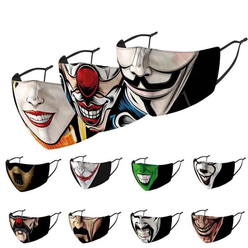 2020 Máscaras fiesta de adultos magia la cara del payaso máscara máscaras Máscaras multi uso del cuello protector solar Boca Cara del partido