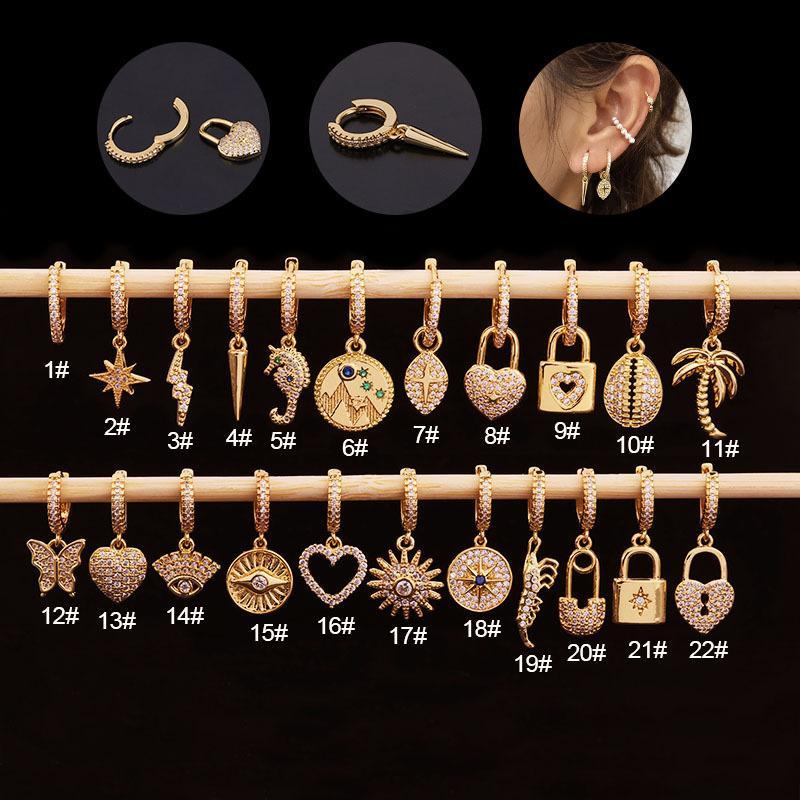 1 pezzo insolito amore cuore serratura orecchini donne gioielli pendories farfalla solare orecchini orecchini donne tendenza regalo