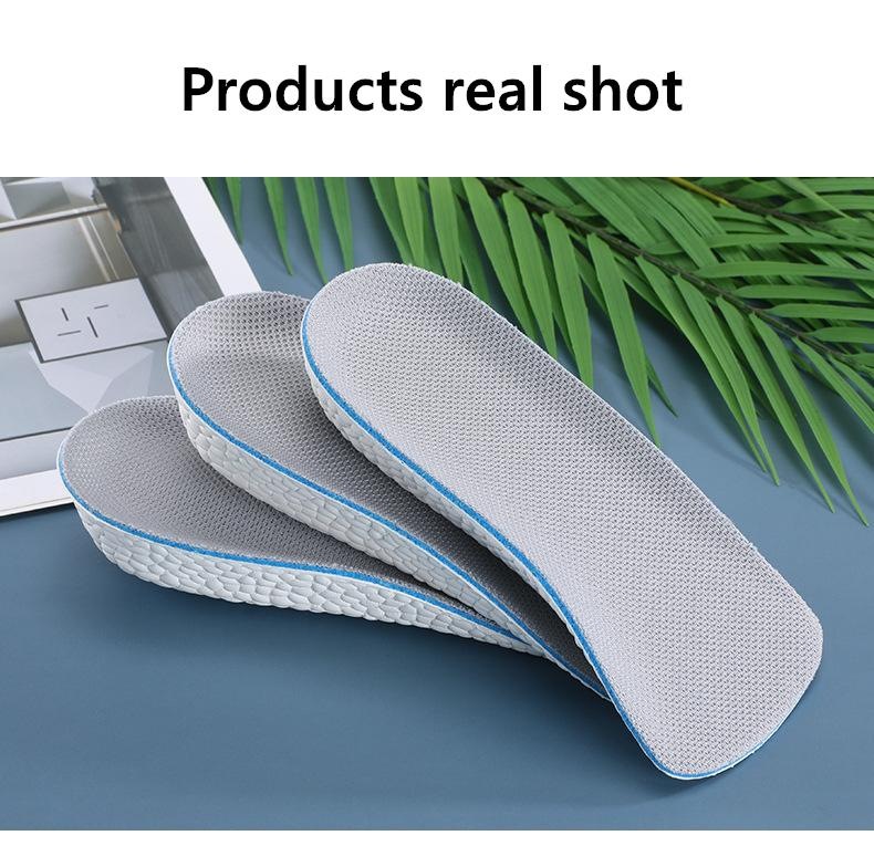 EVA Memory Foam Heightening Insole Air Cushion Invisible Height Increase Insoles Shoe Inserts Heel Lifts Pad Taller