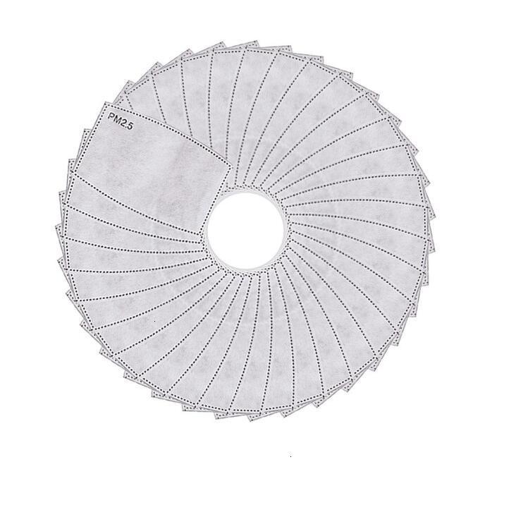 Maskeler Maske 5 Katmanlı Tek Kullanımlık Koruyucu PM2.5 Yüz İç Conta Yedek Filtre Ped Solunum Ile Ücretsiz Kargo
