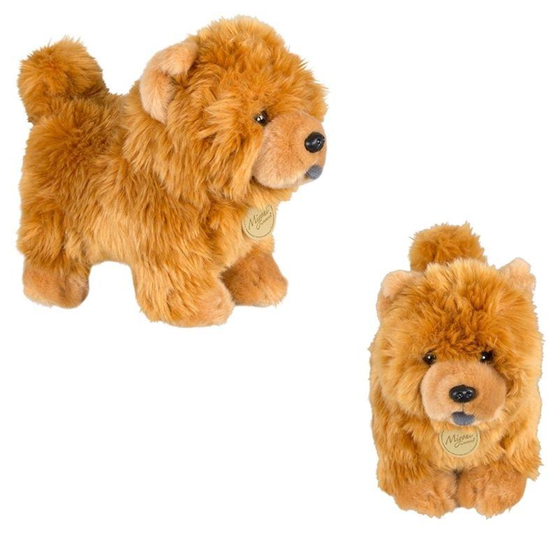 Aurora Chow Chow Boneca Frise Filhote de Filhote de Filhote de Animais Animais Dog Boneca Religável Boneca Cute Simulação Fluffy Dolls Presentes de Natal 201222