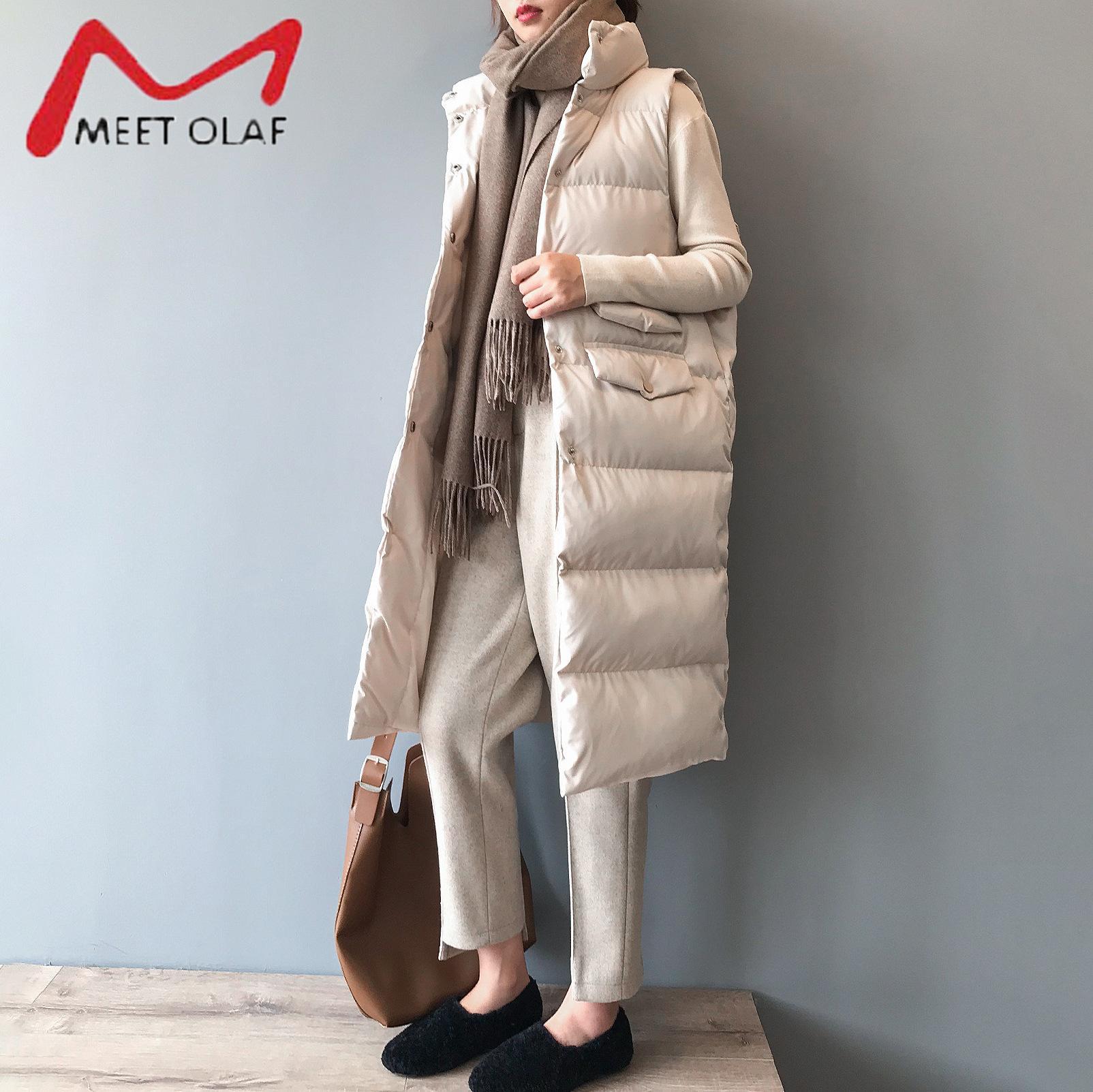 2020 Kadın Kış Yelek Ceket Standı Yaka Kadınlar Uzun Yelek Sıcak Kadınlar Yelek Tops Chaleco Mujer Jile Casaco Femininox1016