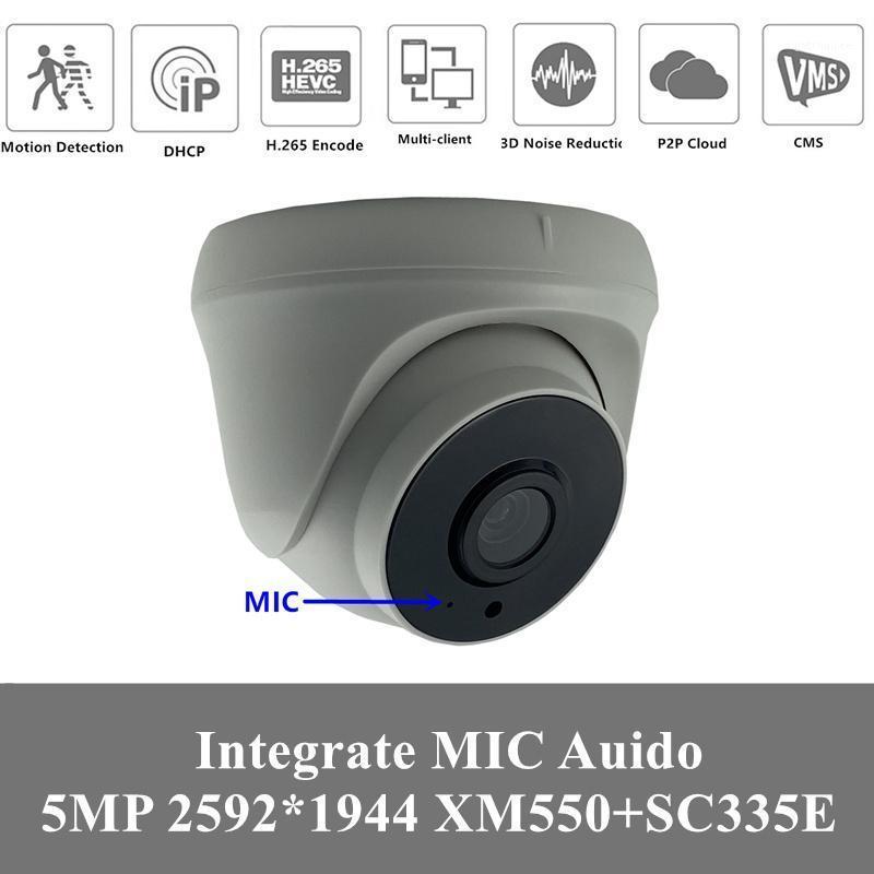 4CPS 5MP WiFi WiFi Audio inalámbrico MIC IP Cómica de domo de interior 2592 * 1944 H.265 NightVision infrarrojo IRC Soporte máximo 128G Tarjeta SD P2P1