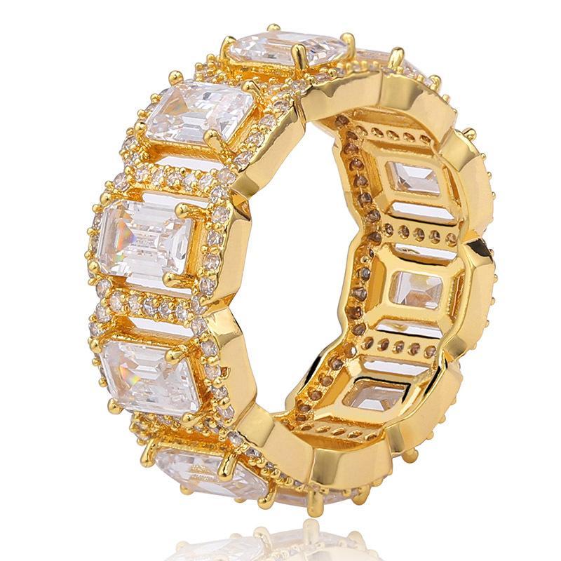 Hip Hop Designer Schmuck Männer Ringe Hochzeit Diamant Luxus Ring Engagement Charmpreisgang Gold Liebe Ring Pandora Style Charms Iced Out Mode