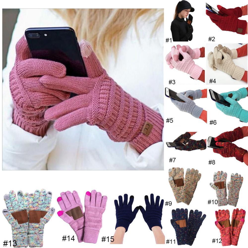 Kış Unisex Dokunmatik Ekran Eldiven Smartphone Telefon Kış Örgü Siyah Bayanlar Erkek Dokunmatik Eldiven Magic Mittensthicken Eldiven