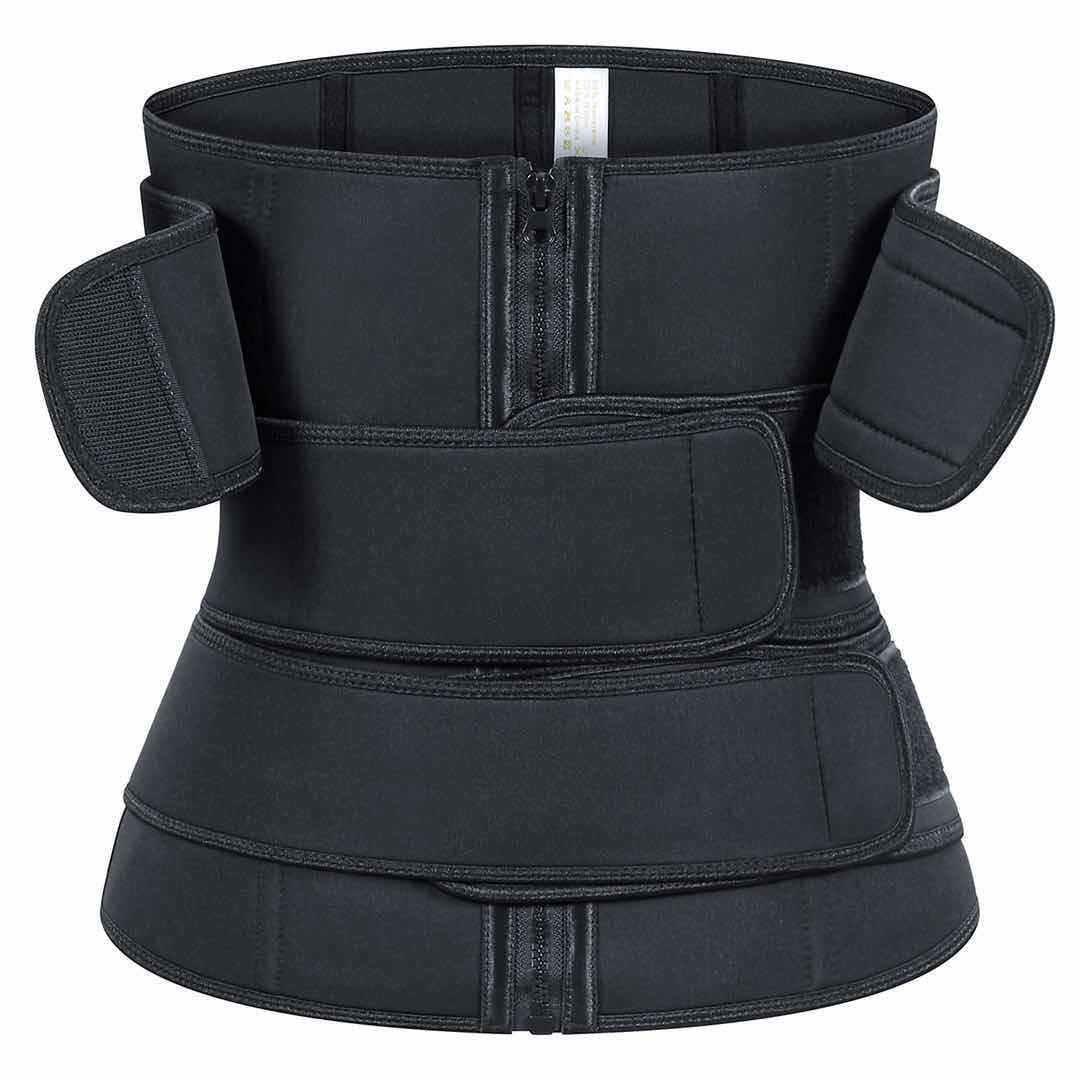Más nuevos TRES STRIPE BELTS CINE DE CINTURA Sauna Sweat Bands Corset Trimmer Cuerpo Shapewear para Yoga Fitness Jogging Sports Girdle DHL gratis