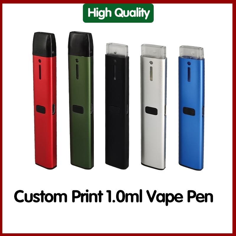 C107 Одноразовые Vape Pen E-Cigarettes 280MAH Высококачественная батарея Высококачественная батарея на заказ 1,0 мл Емкость Пустой испаритель Pods Barter Kit Vaping Pod