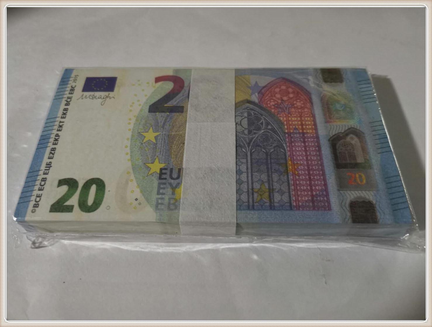 Party Shooting 20 Fälschung Kopie MV Spielzeug Banknote Prop Hoxue Hot Le20-48 Atmosphäre Bühnenstütze Euro Bar Gefälschungen Ikkwf