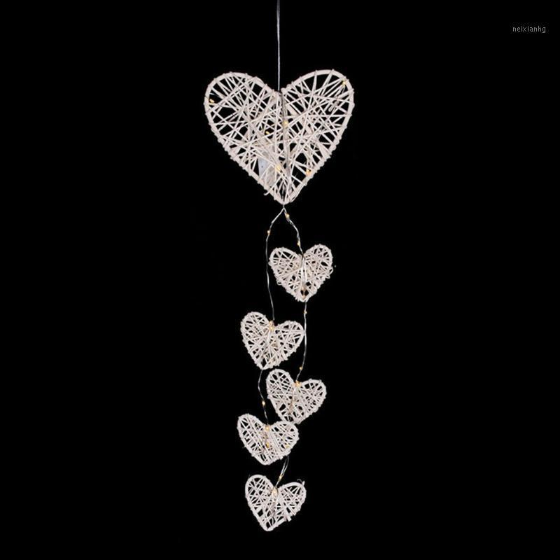 Creative Night Light Dream Catcher Net Wall Hanging Pendant Two Ring Dream Catcher Simple Decorative Wall Hanging1