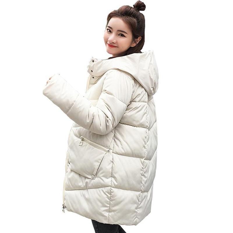 2020 Parka Winter Muyer estilo coreano chaqueta larga mujer gruesa sólido talla grande con capucha suelta abrigo cálido femme casual giacca donna lj201021