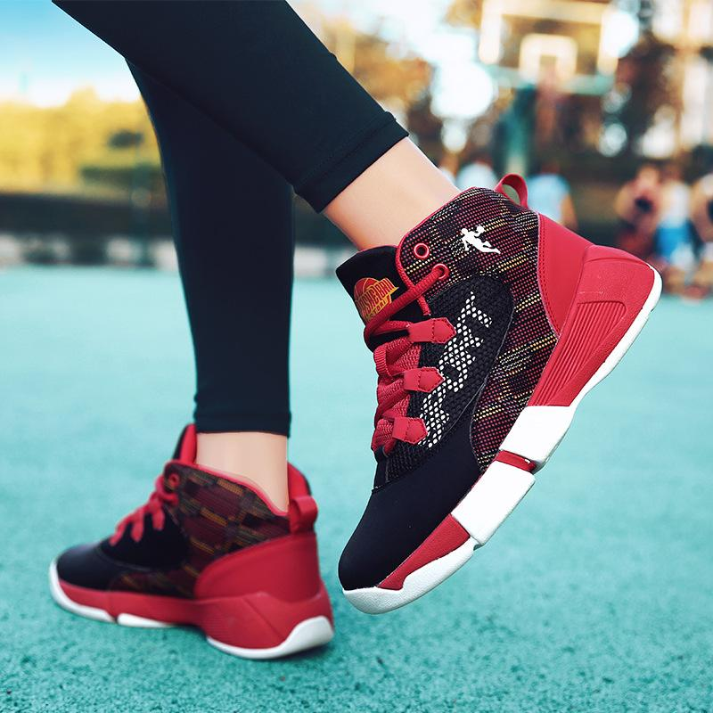 New Sport Boy Basketball Kids Sneakers High Top Shoes for Boys Brand Children Gym Basketball Boots Youth Basketball Shoes