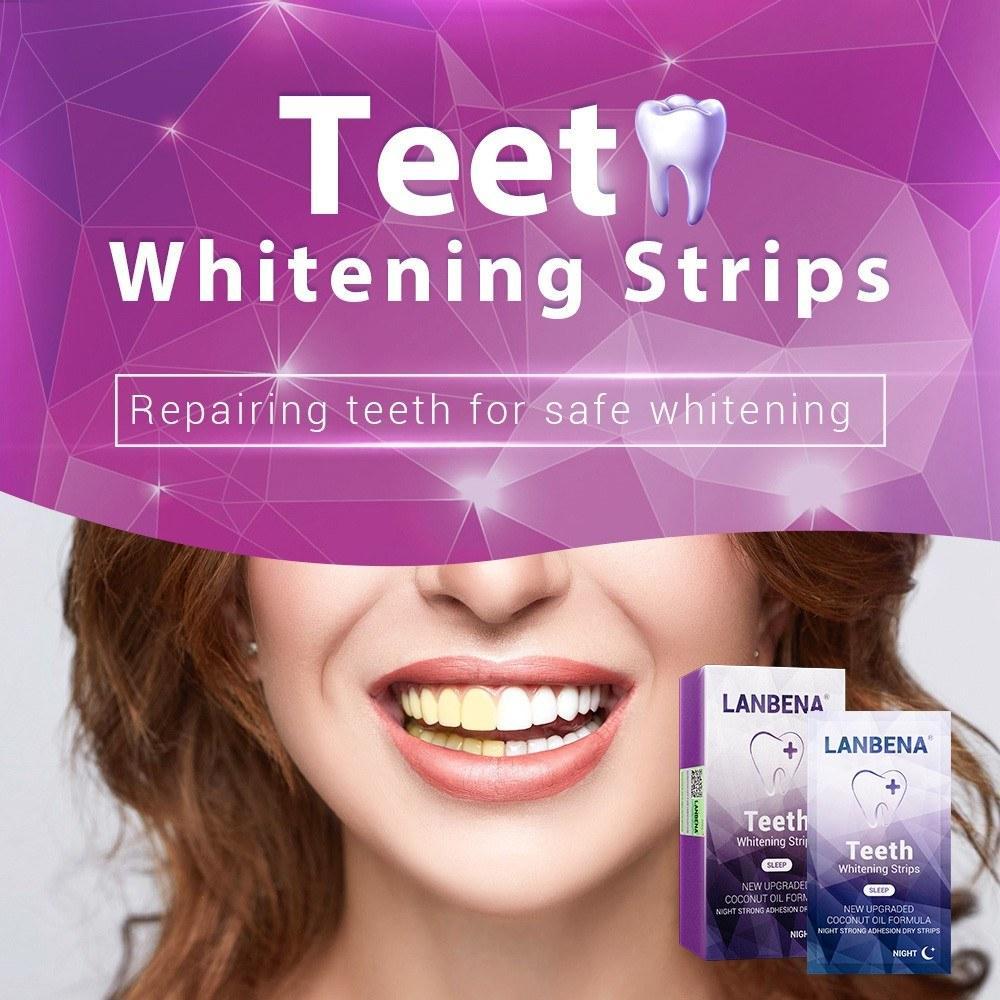 7pcs dents Whitestrips Nuit Utilisez des bandelettes de blanchiment anti-sensibles anti-sensibles anti-sensibles Soins dentaires oraux utiles