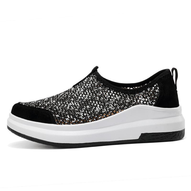 Nouveau Femmes Chaussures Chaussures Casual Sport Mode marche Flats hauteur croissante des femmes Mocassins respirant Air Mesh Wedges Chaussures