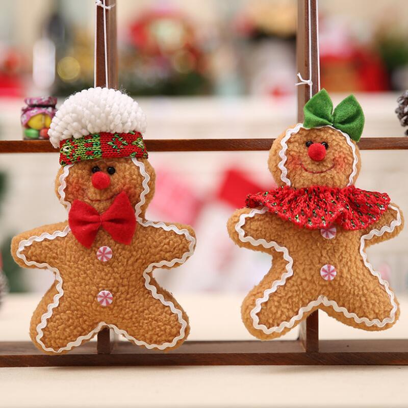Gingerbread Man Noel Pendant Dekorasyon Kurabiye Doll Peluş Noel ağacı Araç Ağacı Süsleme KKF2144