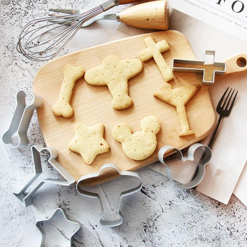 Cookie Cutters Moulds Aluminum Alloy Cute Animal Shape Biscuit Mold DIY Fondant Pastry Decorating Baking Kitchen Tools PPF4041