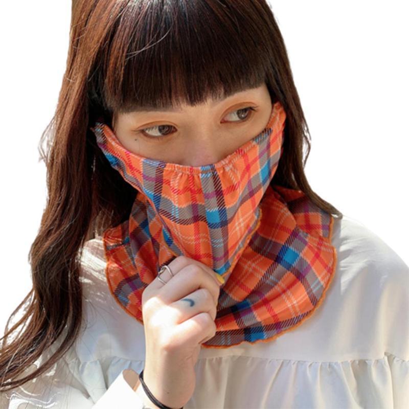 Donne Ear Summer Ear Pendere Antivento Protezione del sole Protezione del viso Collo Ghetta Garf Sciarpa Stop il respiratore di spit volante per l'estate