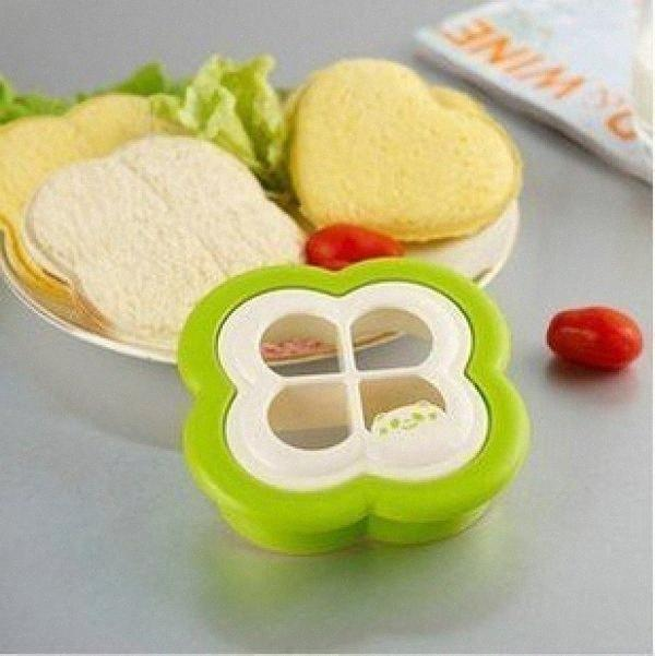 1PCS Frühstück Klee geformte Sandwich Maker Brot Brötchen Cookie-Sushi-Form-Form Toast Cutter Home Cooking Werkzeuge 8hVm #
