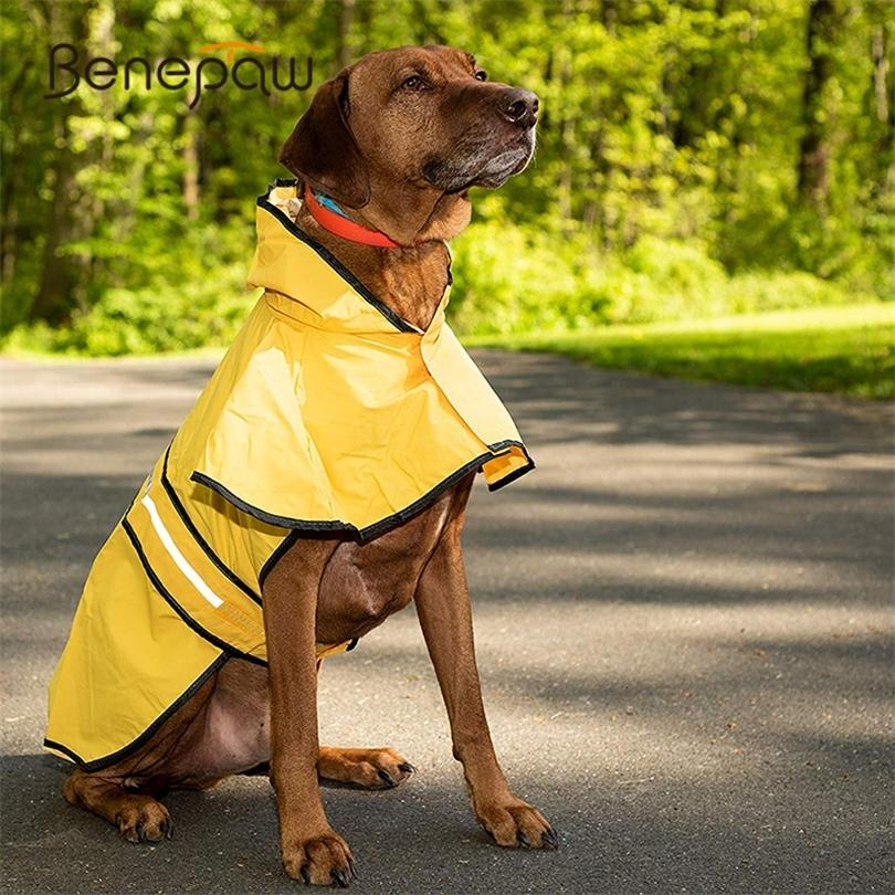 Benepaw Reflektierende Haustierhund Regenmantel Große stilvolle Safe Kleine Medium Große Hundekleidung Wasserdichter Mantel Golden Retriever Labrador 201225