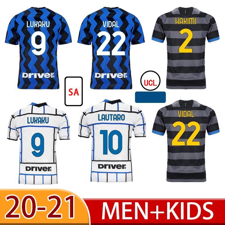 20 21 Lukaku Alexis Eriksen Soccer Jerseys Skriniar Godin Barella Vecino Camisa de Futebol Lautaro Homens Adulto Terno Crianças Futebol Camisas
