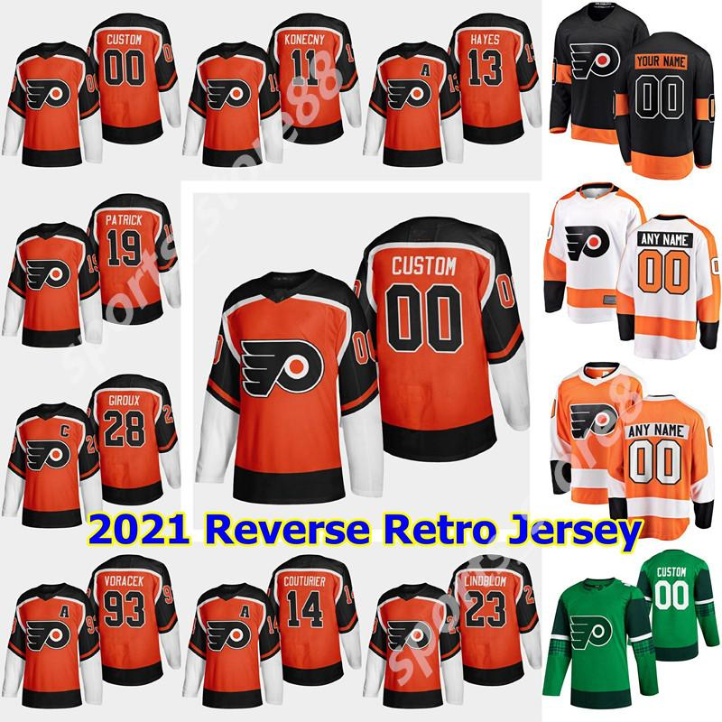 New Philadelphia Flyers 2021 عكس الرجعية الهوكي جيرسي 79 كارتر هارت جيرسي كلود جيروكس أوسكار ليندبلوم شون كوتوري سيموندز مخصص