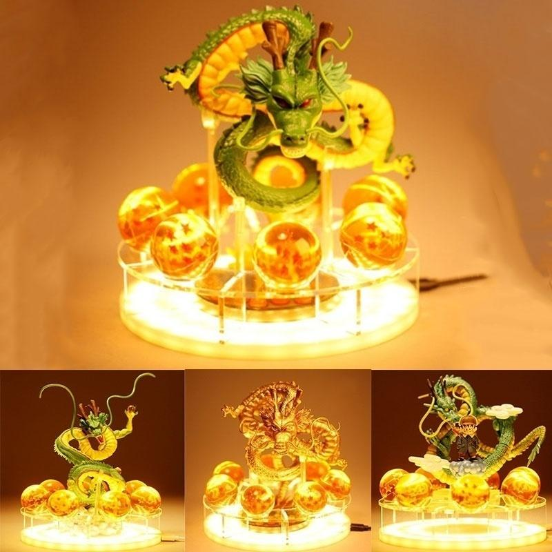 DBZ Lamp Shenlong Действие Рисунок Шэнрон DBZ Super Goku LED Night Light Light Shenlong Аниме Фигурка Сборник Подарок 201202