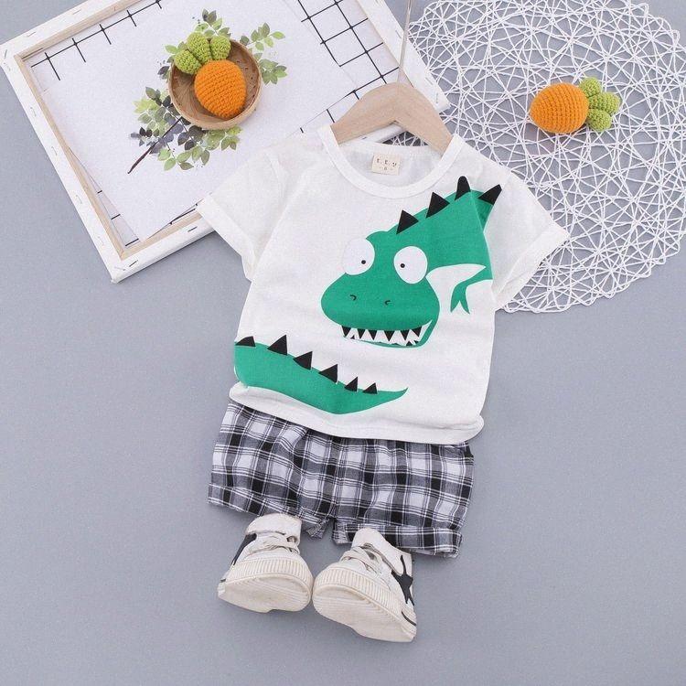 2020 2020 Nuovo bambino cucciolo di dinosauro vestito T Shirt manica corta pantaloncini estivi Fashion Boy Sport Kid Boy Girl Outfit Da, $ 13.46 | DHg h4Fz #
