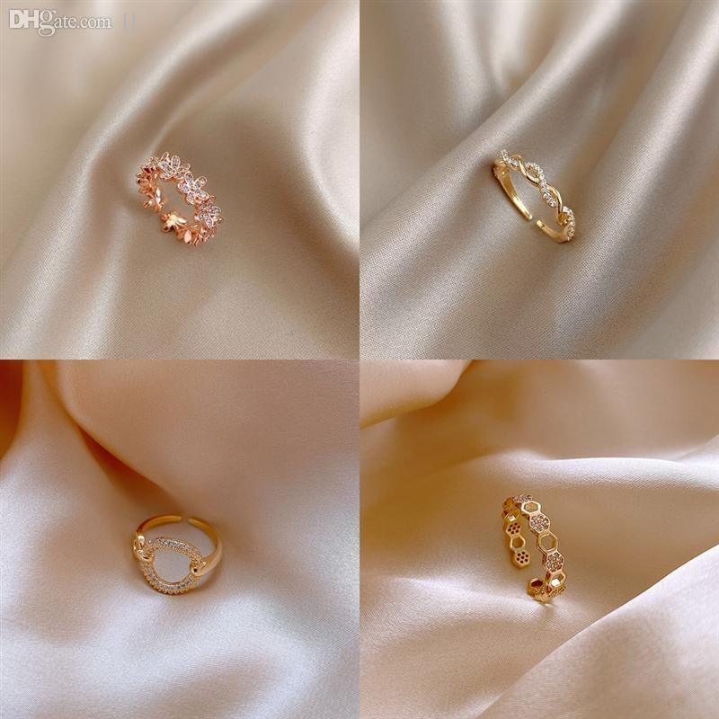 I1YID red smok Cut Diamond Braid tfv4 bracelet Individual ring D Twist Di ring Women's Japanese and Korean CD letter temperament earrings