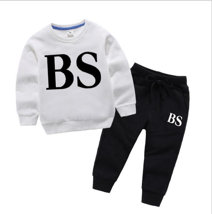2021 Yeni Tür Boys'Sanitary Giyim Kız Spor Giyim Çocuk Tops ve Pantolon En çok satan ait Güz