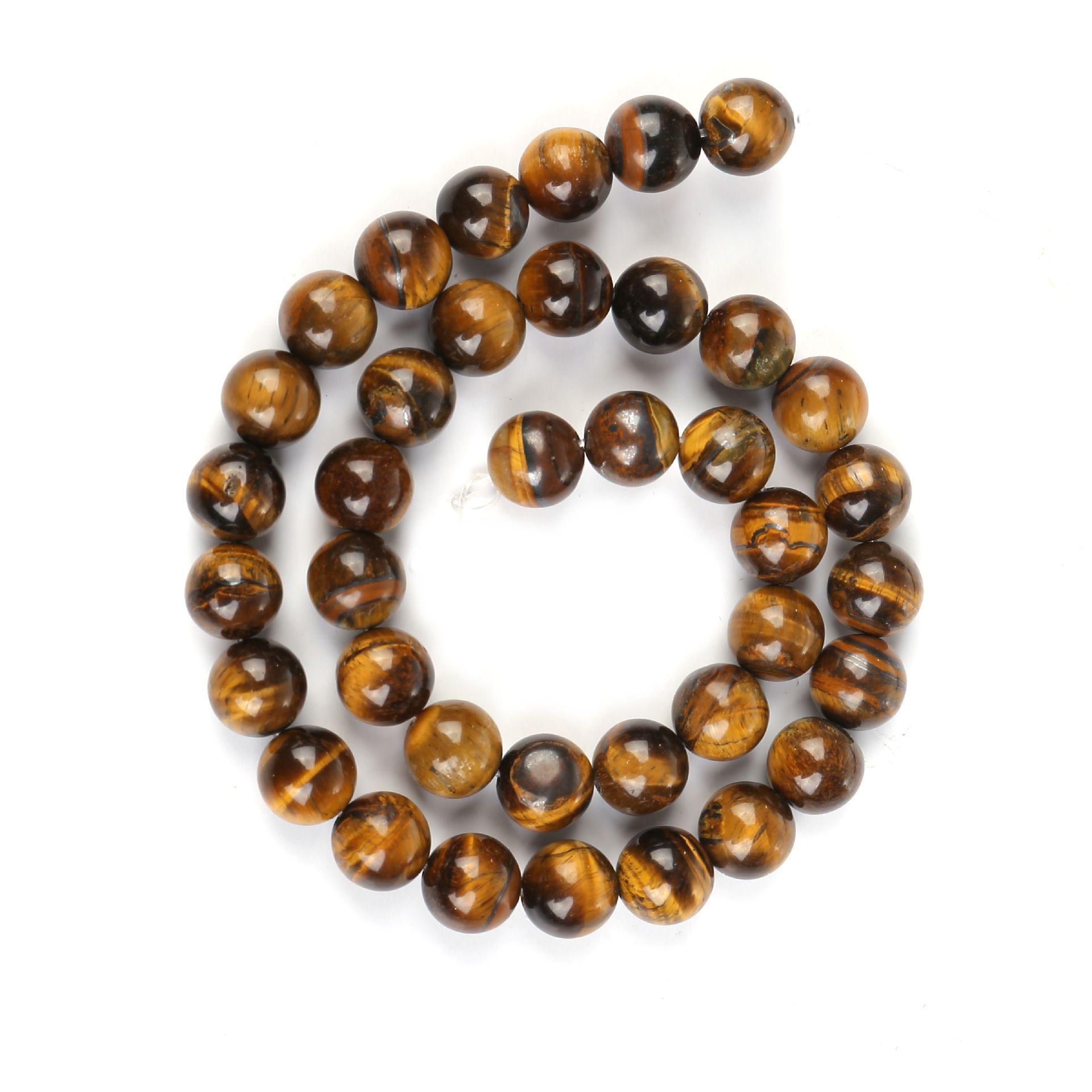 Billig 144pcs / lot 8mm Natürliche Steinperlen Gelb Tigerauge Runde Lose Perlen für DIY Schmuckherstellung