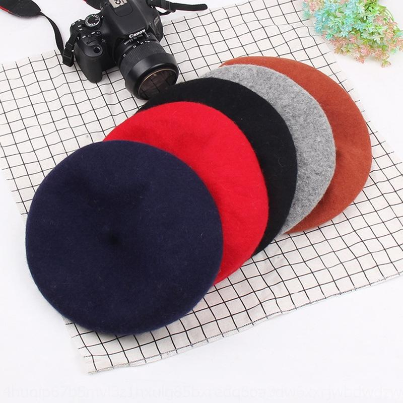DTZ8s outono e inverno 2020 Nova boina de lã viagem quentes do pintor do pintor da beretwarm mulheres chapéu