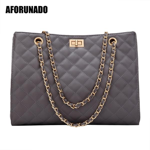 Luxury Handbags Designer Leather Chain Large Shoulder Tote Hand Bag Fashion Crossbody Bags For Women 2020 White Q1104