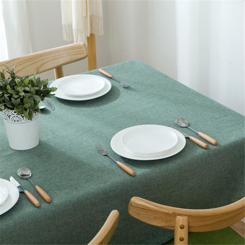 Nordic скатерть хлопчатобумажная льняная пылезащитная крышка стола для кухонного столового столешницы украшения