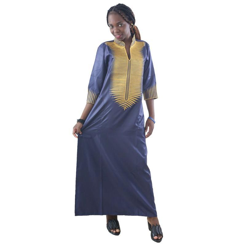 Abbigliamento etnico MD 2021 Abiti africani per le donne Dashiki Maxi Abito ricamato South Traditional Wear