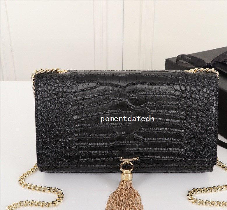 Сумка женская цепь сумка Kate Bags Qynf дизайнер роскошный кожа 6etae качественный кошелек реальный высокий рисунок VRGX крокодиловая сумка на плечо 24см T VGIT