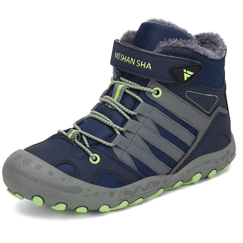 Winter Kids Boots Детская кожаная обувь для мальчиков снежная обувь малыша сапоги плоские ботинки для девочек бота infantil neve 201128