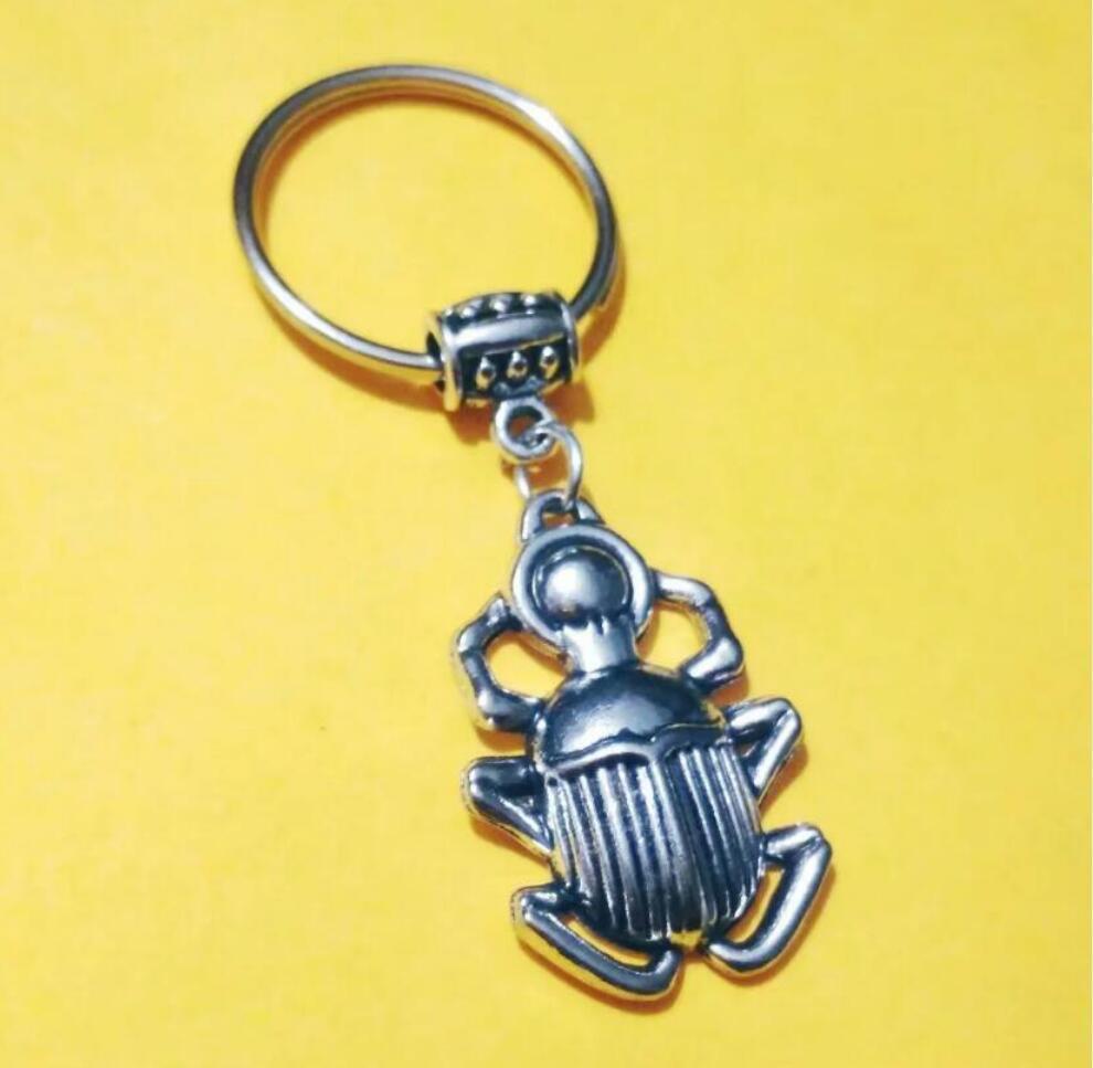 NEW HOT Fashion jewelry Beetle/ladybug/corpse Keychain- charm pendant key chain ring DIY Fit Keychain - 189