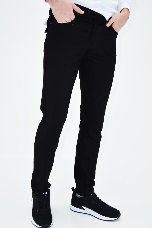 Männer Jeans schwarze Lycra Gabardine